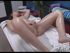 Hot sizzling gets a slit massage then fucked hard!