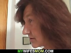 Very venerable girlfriends mom rides his cock