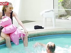 Beautiful Czech teen (Stacy Cruz) enjoys poolside fuck with stranger