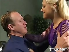 Sweltering amateur gives sexy pov blowjob and gets drilled