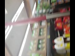 PAWG at Grocery Outlet showing the world her fat ass