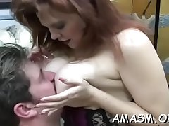 Carnal woman facsitting hubby in real dilettante fetish xxx