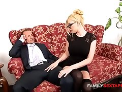 Careless stepdaughter is daddys inclement secretary