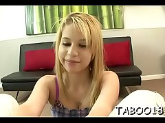 Foxy teen delights say no to juicy cunt and pleases a stiff penis