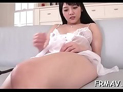 Pretty oriental delights with rousing fellatio and schlong wanking