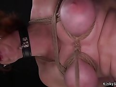 Redhead pussy and throat banged bdsm