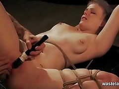 Two Clips Form One Intense Action Scene With Toys Teasing And Hardcore BDSM