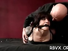 Girls get bounded together and titillated by a marital-device