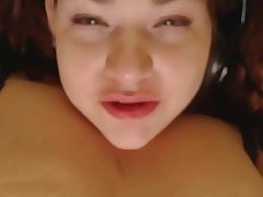 Slapping my boobs and playing with my nipples