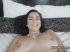 Curvy Monica bends over and spreads wide for cock
