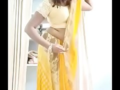 Swathi naidu changing saree and getting accessible for fantasizer short film shooting
