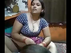 Desi Bhabhi legs wide open in the lead of her Son!!