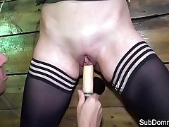 Smalltitted babe toyed not later than bondage fetish