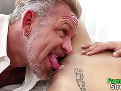 FamilyStroke.net - Petite Teen Fucking Daddy and Bro