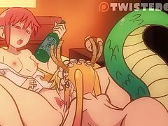 Dragon Maid Drunken Kobayashi Gets Her Pussy Licked to Orgasm