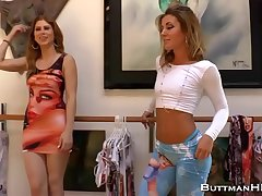 Brooklyn Lee and Her Friend Tease With Their Bums