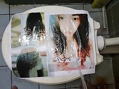 pissing on printed pic #6