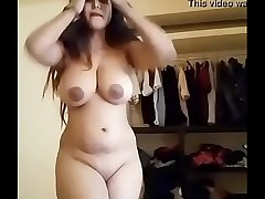 Sexy BBW with uneven boobs solo