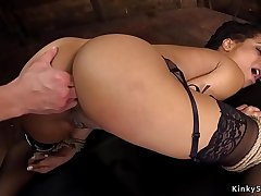 Ebony anal fisted and banged bdsm