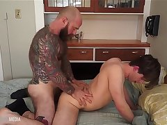 Bubble Butt fucked hard by furry stud Jack Dixon