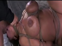 bdsm rough sex - Bound Milf facefucked with huge bushwa - WWW.GIFALT.COM - bondage fetish