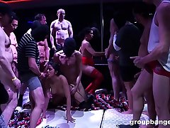 Huge rave club orgy roughly tons of guys and German sluts