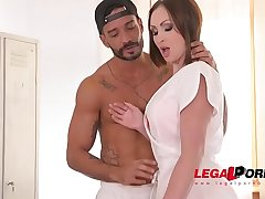 Curvy XXX masseuse Yasmin Scott gets both her wet pussy &amp_ butthole DP'_ed GP337