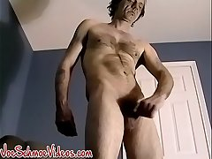Amateur old man tranquillity loves to stroke his rock solid cock