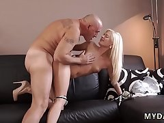 Hardcore pussy fisting squirting Horny platinum-blonde wants to try
