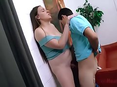 Horny Mom &amp_ Son fuck shortly no one'_s at home