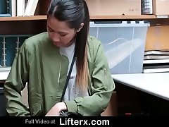 Shoplifting Asian Teen Agrees to Get Fucked By Cop - Lifterx.com
