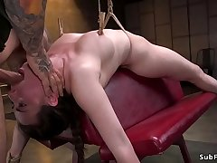 Innocent babe tormented and banged