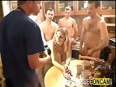 Russian drunk party ends with big orgy